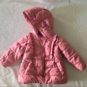 Baby Gap Pink Puffer Hooded Coat Jacket